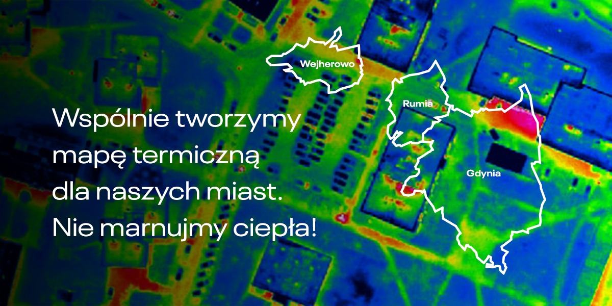 Gdynię, Rumię, Redę i Wejherowo czekają naloty samolotowe, w wyniku których powstaną mapy termowizyjne budynków i sieci ciepłowniczej